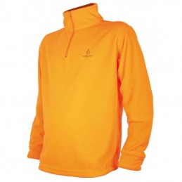 Sweat polaire orange adulte