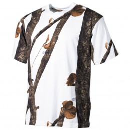 T-shirt feuillage neige chasse