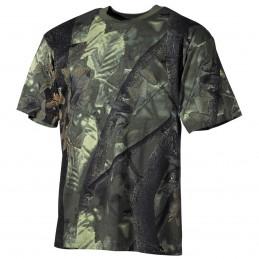 T-shirt feuillage vert chasse