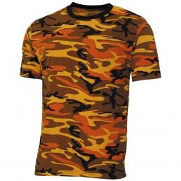 T-shirt camouflage orange