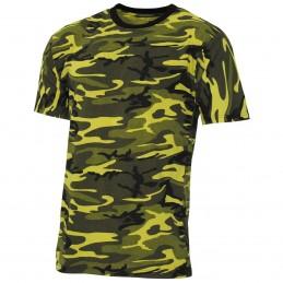 T-shirt camouflage jaune