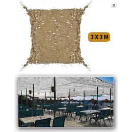 Filet de camouflage 3x3 sable