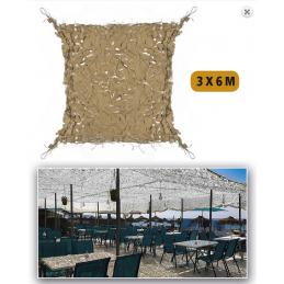 Filet de camouflage 3x6 sable
