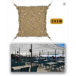 Filet de camouflage 5x5 sable