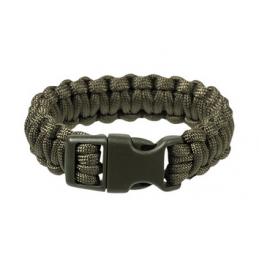 Bracelet corde de survie kaki