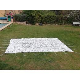 Filet de camouflage blanc...