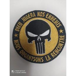 Ecusson Punisher doré